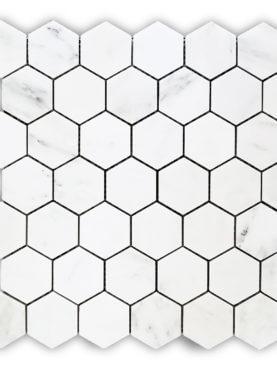MG602 - Oriental White 1'' Hexagon Polished