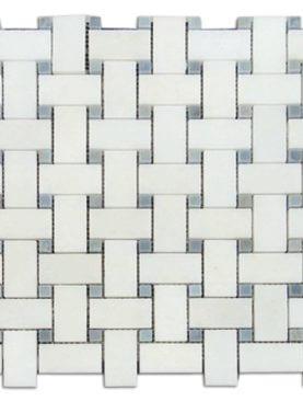 BAS2548H - Oriental White Basket Weave Polished - (MG606)