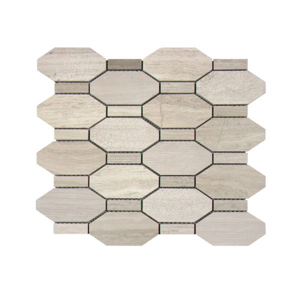 Mg676 Long Octagon Marble Verona Brick