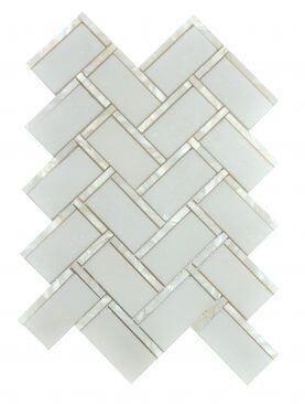 White Shell Herringbone - MG673