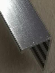 Trims Metal Silver 3/8 Pol 10 Feet